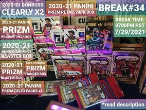 BREAK#34 UTA JAZZ 2020-21 2XPANINI DONRUSS CLEAR/PRIZM RETAILBOX24PK MIXER