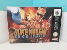Duke Nukem Zero Hour + neuf dans sa boîte + guide n64 Nintendo DOOM Book CIB allemande PAL en boîte