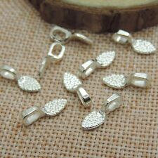 50pcs Silver Tone Alloy Glue On Bail Charm Fit Necklace Earring Finding T0024