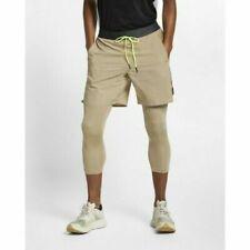 8699a1c6a165 Nike Tech Pack Men s 2-in-1 Running Shorts S XL Brown Volt Black
