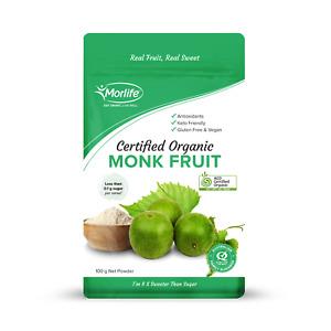 Morlife Monk Fruit Powder 100g | Natural Fruit Sweetener Vegan Keto Sugar Free