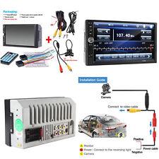 7'' Touch Screen Car Radio Audio Setero MP5 Player FM Bluetooth+Rear View Camera