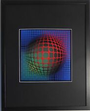 Framed and Mounted Feny Arny Print by Victor Vasarely - 20''x16''