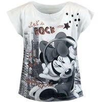 Girls Kids Children Disney Minnie Mouse T-shirt Top Age 2 3 4 5 6 7 8 Years