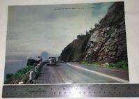 "Over sized 7""x10"" Postcard MN Minnesota Lake Superior Silver Creek Cliff Vintage"