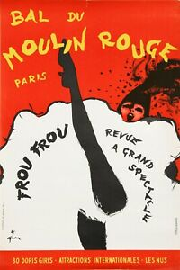 Moulin Rouge Advert Vintage Style Metal Sign, Can Can Dancing, French France