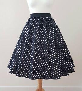 1950s Circle Skirt Classic Polka Dot All Sizes - Pea Spot Jive Swing Rockabilly