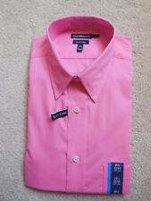 NWT Men's Croft & Barrow Classic Fit Easy Care Dress Shirt 15⅟₂ 32/33 Pink