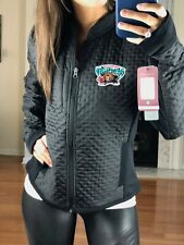 NBA Throwback Vancouver Grizzlies Women's L Textured Performance Jacket, Black