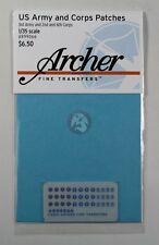Archer 1/35 US 3rd Army, 2nd and 6th Corps Uniform Patches (36 patches) AR99066