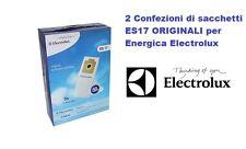 2 CONFEZIONI SACCHETTI  ELECTROLUX ES17 ENERGICA ORIGINALI ZS340A ZS340