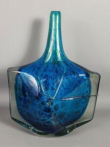 Très beau Vase contemporain verre soufflé Signé Mdina daté 1986. Parfait état.