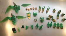 Power Rangers Green Lot of 36pc.  Lost Galaxy  And various  Armor Pieces