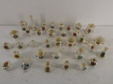 More details for job lot of w.h.goss crested china/porcelain trinkets miniatures ornaments a3