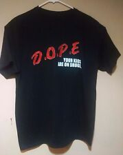 RARE Marilyn Manson D.O.P.E. DOPE Your Kids Are On Drugs T-Shirt Tee Shirt Small