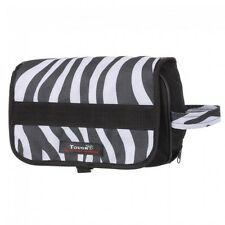 Tough-1 Heavy Poly Roll Up Accessory Bag/Case  --BLK/WHT ZEBRA Print  --NWT