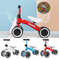 Adjustable 1-3 Years Baby Walker 4 Wheels Kids Balance Bike Toddler Push Scooter