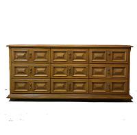 Vtg 60s Mid Century Modern MCM Esperanto by Drexel Large 9 Drawer Dresser Wood