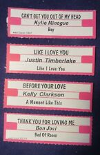 Lot of 4 Jukebox Tags 45 Rpm Title Strips K Minogue Bon Jovi Kelly Clarkson Jt