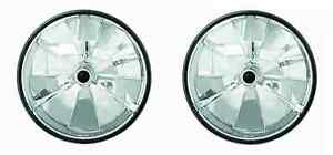 2004 2005 2006 2007 Hummer H2 Headlight Assembly Pair Crystal Cut with Tri-Bar