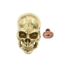 1Pc Leathercraft Skull Design Punk Screwback Conchos Wallet Belt DIY Accessories