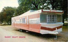 c1950s Darby Craft Coach Trailer House Manufacturer, Terrell, Texas Postcard