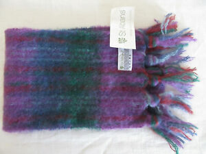 MOHAIR WOOL SCARF S. ALBANS AUSTRALIAN MADE NEW WITH TAGS