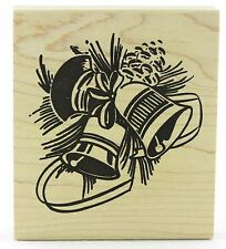 Retro Bells Wood Mounted Rubber Stamp Tim Holtz Stampers Anonymous NEW christmas