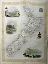 1855 Very Decorative, Valuable Tallis Map of New Zealand
