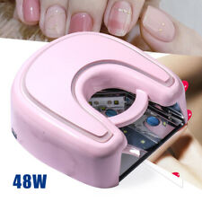Nails Salon 48W Pink Wireless Uv Led Nails Lamp Gel Dryer Red Light Rechargeable