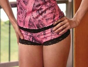 """Wilderness Dreams """"Naked North"""" Pink Camouflage Boy Short Panties"""