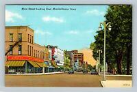 Marshalltown IA, Main Street East, Kresge's Store, Vintage Linen Iowa Postcard