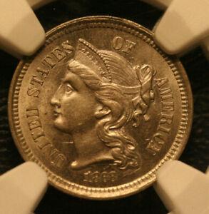 1868 Three Cent Nickel   NGC MS63