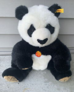 """Steiff Panda Bear 14"""" Tall 060168 with Tags Nice Shape with Free Shipping!"""