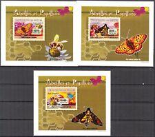 {161} Guinea 2007 Butterflies & Honeybees 3 S/S Deluxe MNH**
