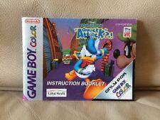 DISNEY'S DONALD DUCK: Ciarlatano Attacco-Nintendo Game Boy Color manuale di istruzioni