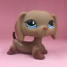 LPS Littlest Pet Shop 518 Chocolate Dachshund Dog Teardrop Eyes Puppy Toys Rare