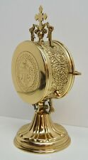 BRASS LUNA HOLDER / TABERNACLE Eucharist CUSTODIAL  ADJUSTABLE - 329 - (CHURCH)