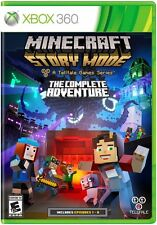 NEW Minecraft: Story Mode -- The Complete Adventure (Microsoft Xbox 360, 2016)