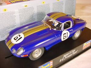 Revell E Type Jaguar #61 Blue 08299 MB one of 500 cars 1/32 slot car