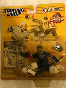 1998 Starting Lineup GRANT FUHR Figure & Card  St. Louis Blues  NHL Extended
