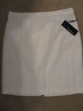 NWT - NUE OPTIONS Beautiful White Eyelet Straight Skirt - sz 10P - MSRP $58.00