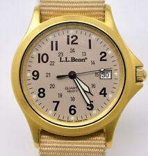 Vintage c. 1990 L.L. Bean Mens Quartz Field Wristwatch
