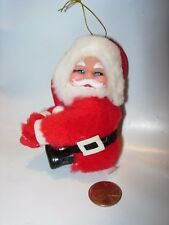 CHRISTMAS TREE ORNAMENT HOLIDAY DECOR VINTAGE SANTA CLAUS CLASPING HANDS CLIP