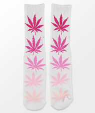 NWT HUF Fader Plantlife Pink Crew Socks - Men's One Size