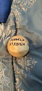 Stadium Caught Baseball Angels Stadium