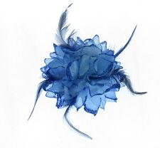 Tocado Grande Azul Real BRILLO pasador, BODAS, Carreras, mujer día