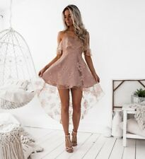 FORMAL BLUSH LACE DRESS