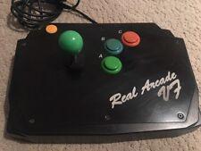 SEGA Saturn Genuine Black Real Arcade V7 Hori Stick Controller from Japan