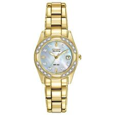 Citizen Eco-Drive Regent 28 Diamonds Mother of Pearl Women's Watch EW1822-52D SD
